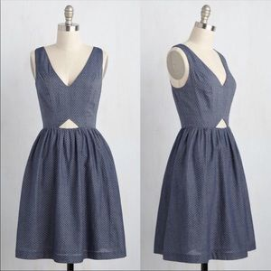 ModCloth | The Fun Has Just Begun Dotted Dress